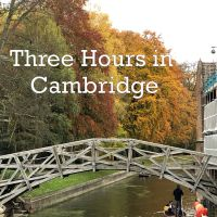 Three Hours in Cambridge